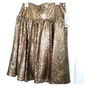 Gold Michael Kors Skirt